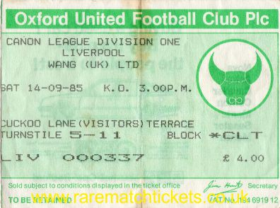 1985-86 div1 m08 OXFORD UTD 2 [LIVERPOOL] 2